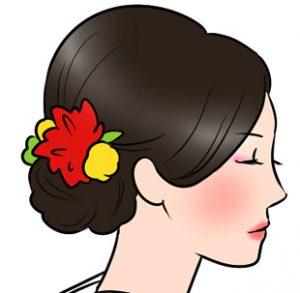 和風の髪型